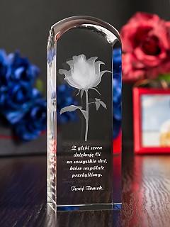 ddd91a97c3e944 Róża 3D » Kwiat Miłości « wysoka zaokrąglona
